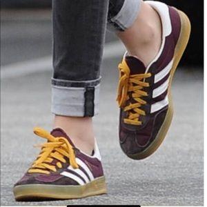 Adidas gazelle maroon purple gum sole